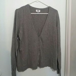 Old Navy Grey Button Cardigan